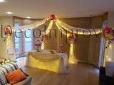 Organic Prieel met Tule en Bloemen Ballondecoratie_