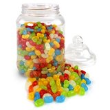 Victoriaanse Plastic Snoeppot met Deksel Medium 2.25L_
