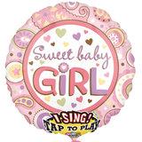 Baby Meisje Sing-A-Tune Folie Ballon 71cm_