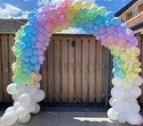 Ballonnenboog Pastel Rainbow Fantasy Enkeldeurs_