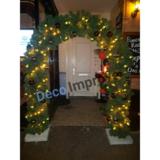 Kersttakken Boog met Kerstversiering en Verlichting Verhuur_