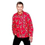 Heren Overhemd Rood.Rood Rendier Kerst Heren Overhemd Decoimprove Nl