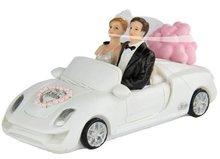 Bruidspaar in Cabriolet Taart Topper