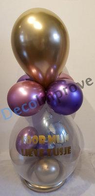 Chroom 'Voor Zusje' Cadeauballon Stuffer Ballon
