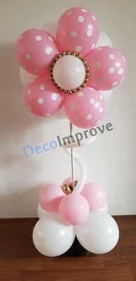 Vrolijk Bloempje Ballonnenpilaar Tafeldecoratie