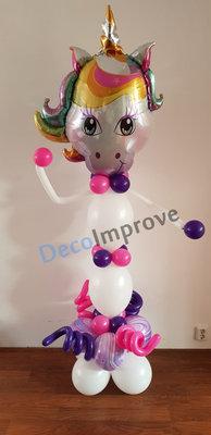 Eenhoorn Helium Ballonnenpilaar