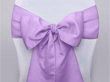 Lavendel Satijnen Stoel Strik Mat 10st