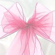 Roze Organza Stoel Sjerp 6st