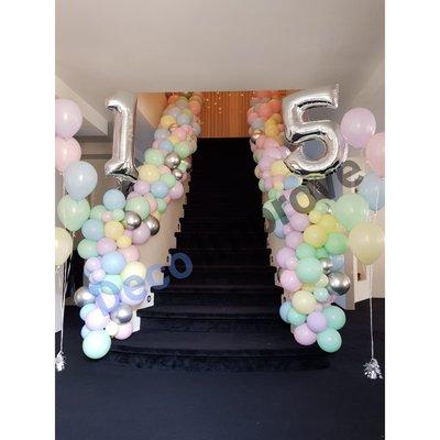 Pastel Organic Slinger Ballondecoratie per Meter