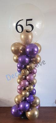 Chrome Deluxe Ballonnenpilaar met Gepersonaliseerde opdruk