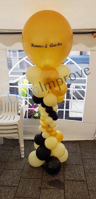 Deluxe met Gepersonaliseerde Tekst op Topballon Ballonnenpilaar