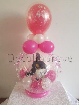 Roze 40 Jaar Verjaardag Cadeauballon Stuffer Ballon