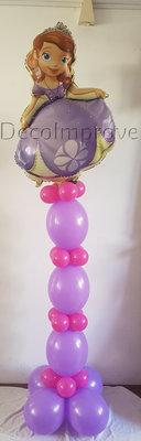 Prinses Sofia Helium Ballonnenpilaar