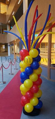 Ballonnenpilaar Fantasy met Modelleerballonnen als Top 230cm Clusters van 4