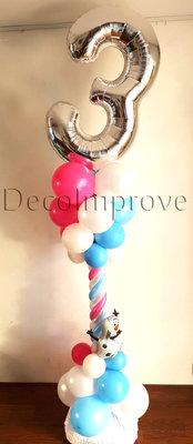 Frozen Verjaardag Luxe Ballonnenpilaar