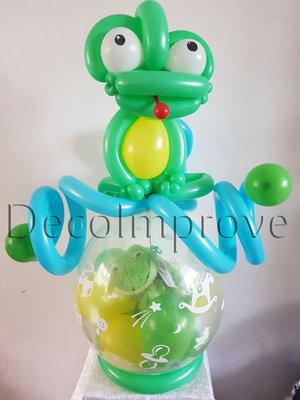 Vrolijke Kikker Cadeauballon Stuffer Ballon