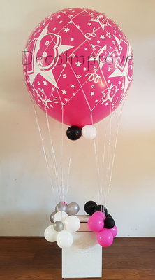 Hot Pink Sweet 18 Luchtballon Ballondecoratie