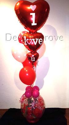 Valentijn Teddybeer 'I Love You' Ballondecoratie Cadeauballon Stuffer Ballon met Heliumtros