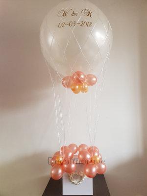 RoseGold Luchtballon Ballondecoratie