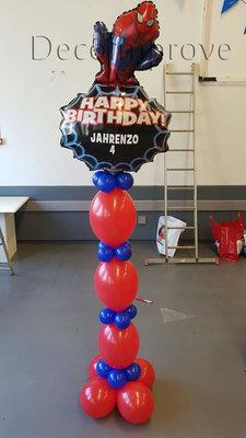 Spiderman Gepersonaliseerde Helium Ballonnenpilaar