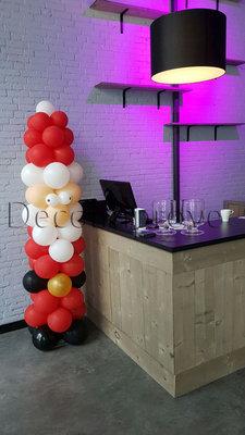 Ballonnenpilaar Kerstman 180cm