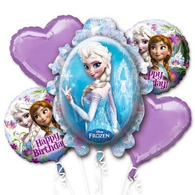 Frozen Folie Ballonnenboeket 5st