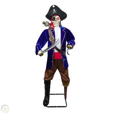 Piraten Kapitein met Papegaai Animatron Bewegend Figuur Verhuur