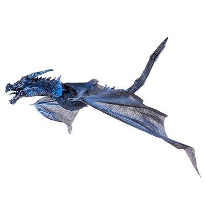 Blauwe Draak Animatron Bewegend Figuur Verhuur