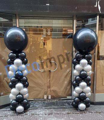 Ballonnenpilaar Standaard met Pijlpatroon 220cm Clusters van 4