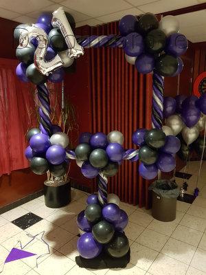 Paars 21 Jaar Foto Frame Ballondecoratie 100x100cm