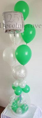 Zilver en Groen 50 Jaar Verjaardag Cadeauballon Stuffer Ballon met Helium