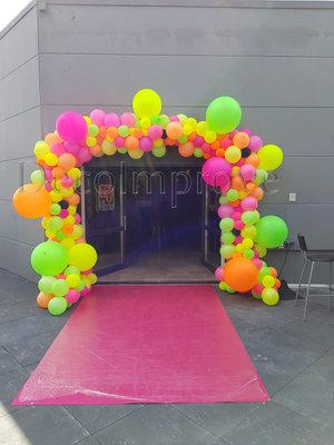 Ballonnenboog Organic Neon Vierkant Dubbeldeurs