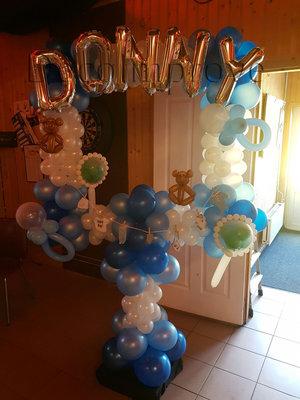 Baby Jongen Deluxe Foto Frame Ballondecoratie 100x100cm