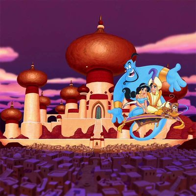 Aladdin Agrabah Backdrop 200x200cm Verhuur