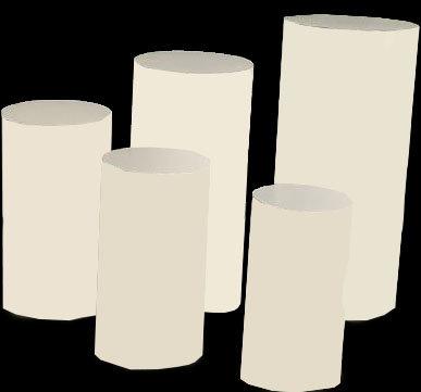 Ronde Zuilen Wit set van 5 Verhuur