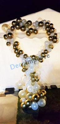 Organic Love Wit en Goud Foto Frame Ballondecoratie Hartvorm