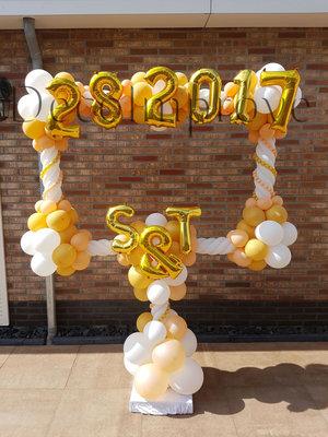 Luxe Gouden Foto Frame met Tekst Ballondecoratie