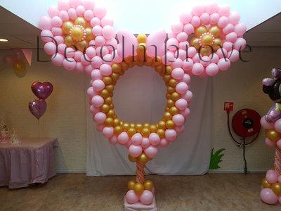 Minnie Mouse Foto Frame Ballondecoratie 350cm