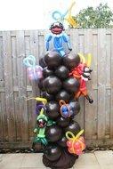 Ballonnenpilaar Schoorsteen met Pieten 180cm