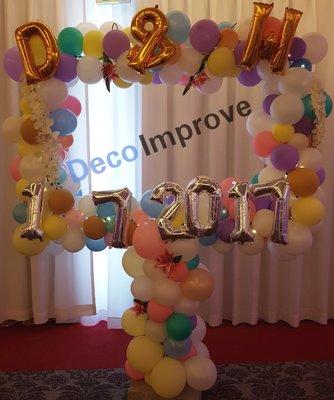 Organic Pastel Foto Frame Ballondecoratie