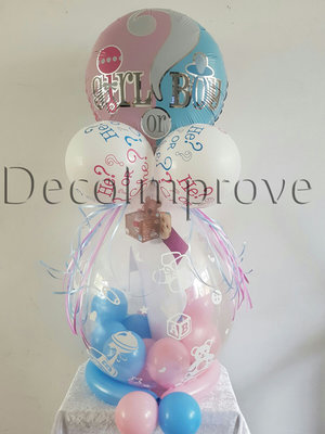 Present Gender Reveal Cadeau Ballon Stuffer Ballon