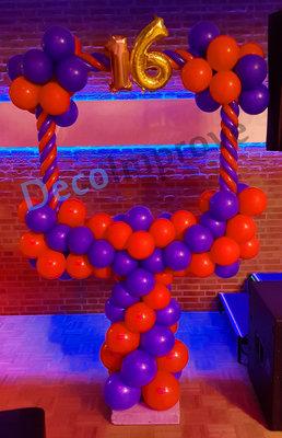 Rood Blauw 16e Verjaardag Foto Frame Ballondecoratie 100x100cm