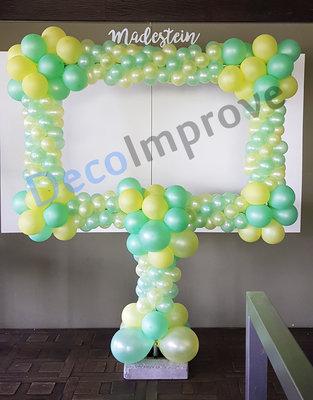 Groen Geel Deluxe Foto Frame Ballondecoratie