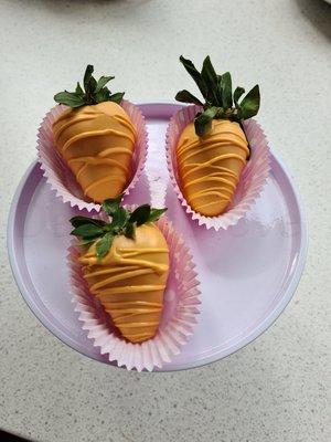 Aardbeien Choco Oranje