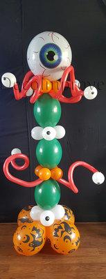 Glibberige Ogen Halloween Helium Ballonnenpilaar