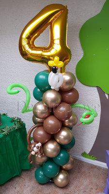 Ballonnenpilaar Standaard Jungle Chique '4 jaar'