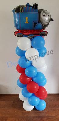 Ballonnenpilaar Standaard Thomas het Stoomlocomotiefje