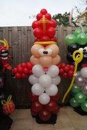 Ballonnenpilaar Standaard Sinterklaas 200cm clusters van 4