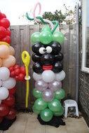 Ballonnenpilaar Standaard Zwarte Piet 180cm