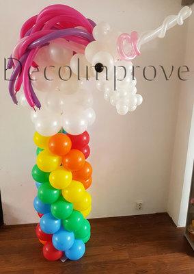 Ballonnenpilaar Standaard Eenhoorn op Regenboog